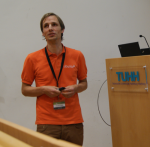 Torsten Franz auf dem Software Freedom Day in Hamburg